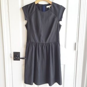 Rebecca Taylor Dark Grey Dress with Real Leather